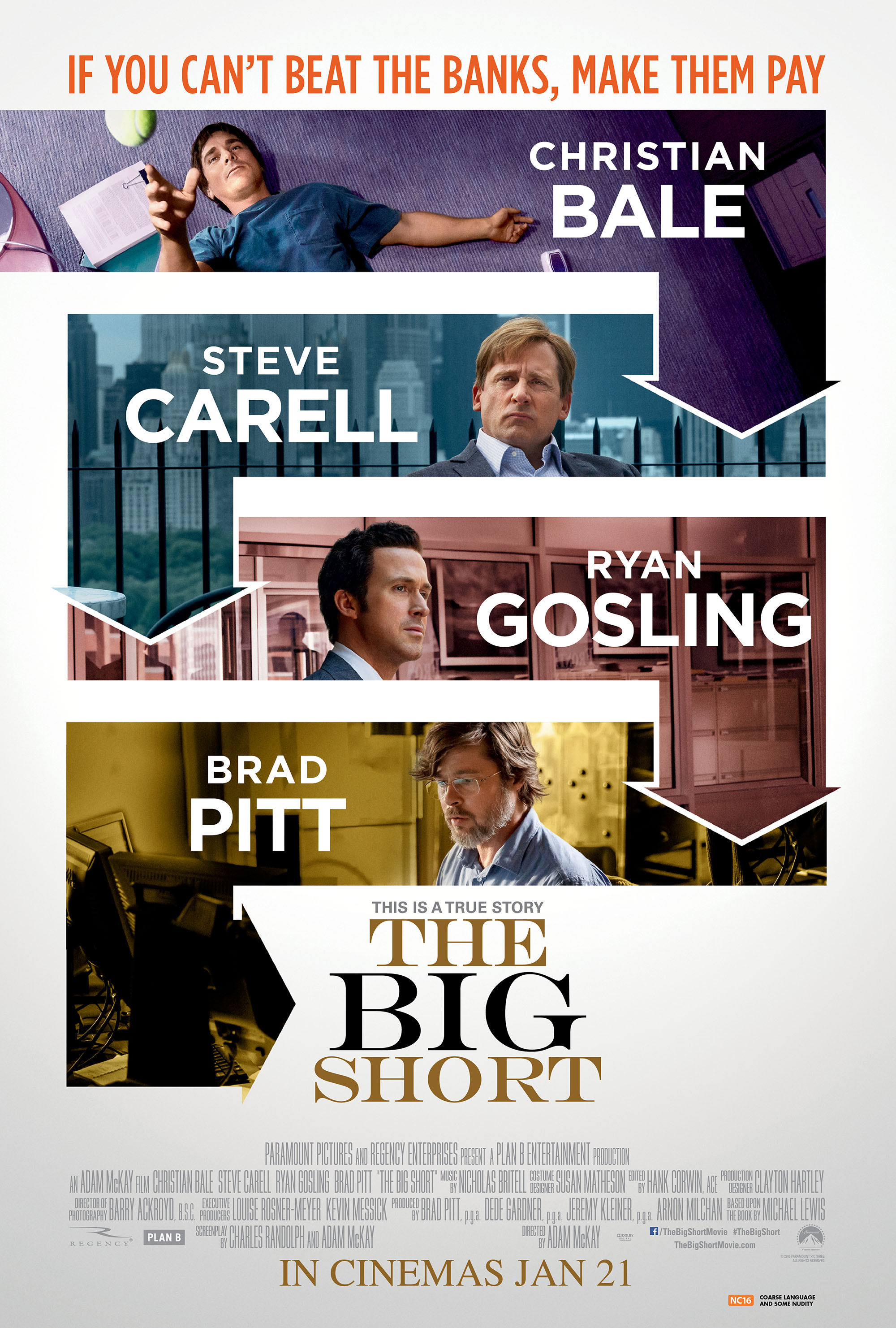 THE BIG SHORT (2015) - MovieXclusive.com Wolf Of Wall Street Movie Cover