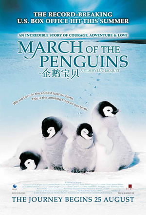 march of the penguins But the glacially beautiful new documentary march of the penguins  when  viewed from afar, the film's penguins, their black-and-white bodies.
